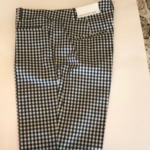 Ann Taylor gingham print crop pants NWT size 4